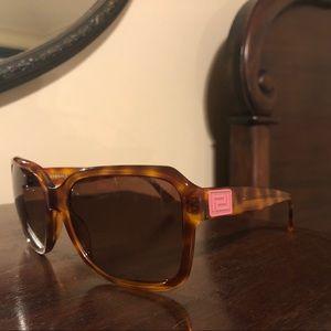 Versace Light Havana Square Sunglasses
